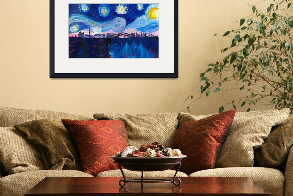 """Starry Night in Venice - Van Gogh inspired Italy&quot  (2017) by arthop77"