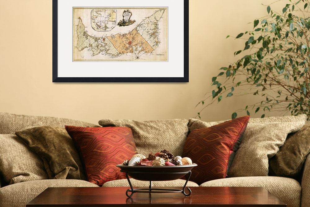 """""""Vintage Map of Prince Edward Island (1775)&quot  by Alleycatshirts"""