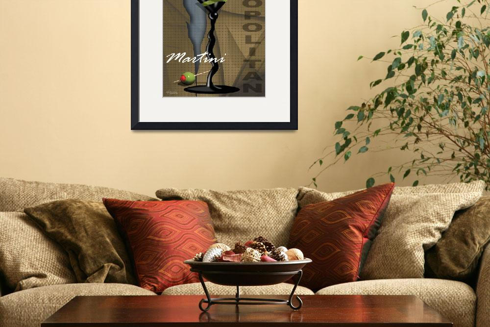 """""""Sexy Art Deco Martini with olives&quot  (2009) by CherylDaniels"""