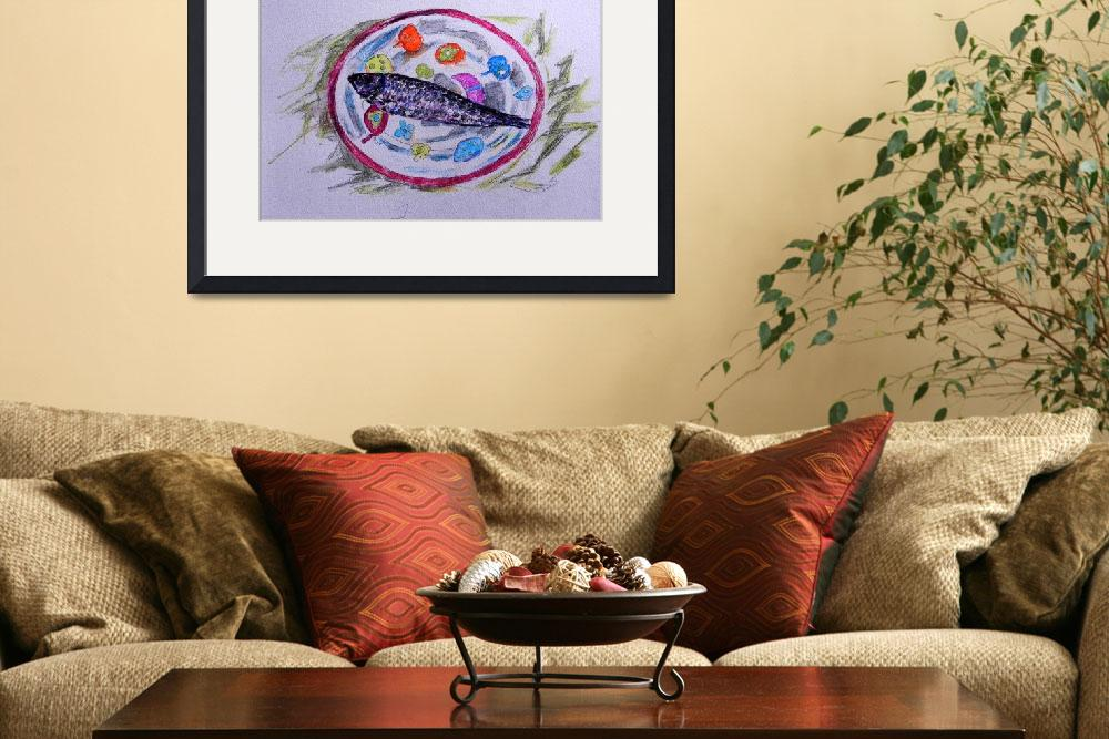 """""""fish on a plate""""  (2013) by ColinConnaughton"""