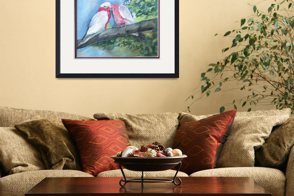 """""""Galahs Kissing&quot  (2010) by artypam"""
