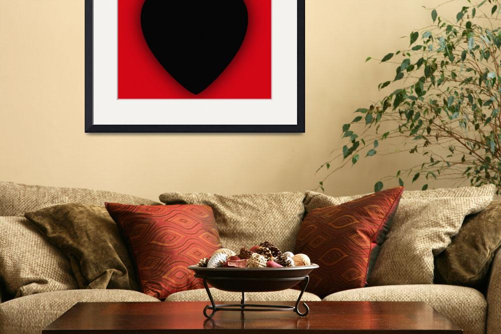"""Heart Series Love Black Devil Horns&quot  (2018) by RubinoFineArt"