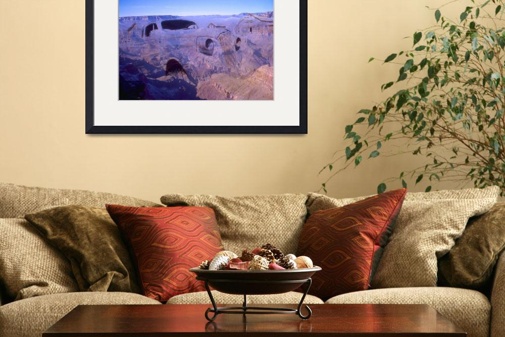 Grand canyon car photo art collage 1999 by art america