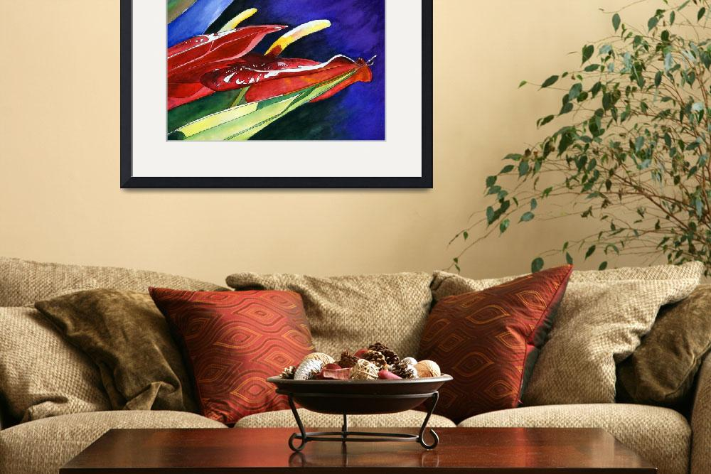 """""""""""Bird of Paradise"""" watercolor&quot  (2008) by marygaines"""