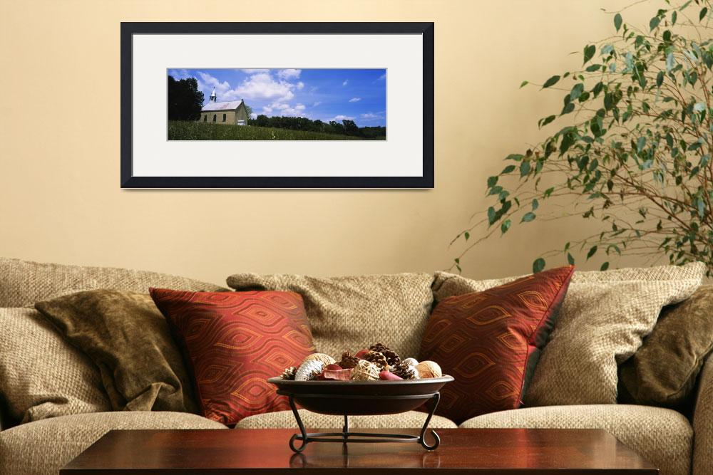 """""""Church in a field&quot  by Panoramic_Images"""