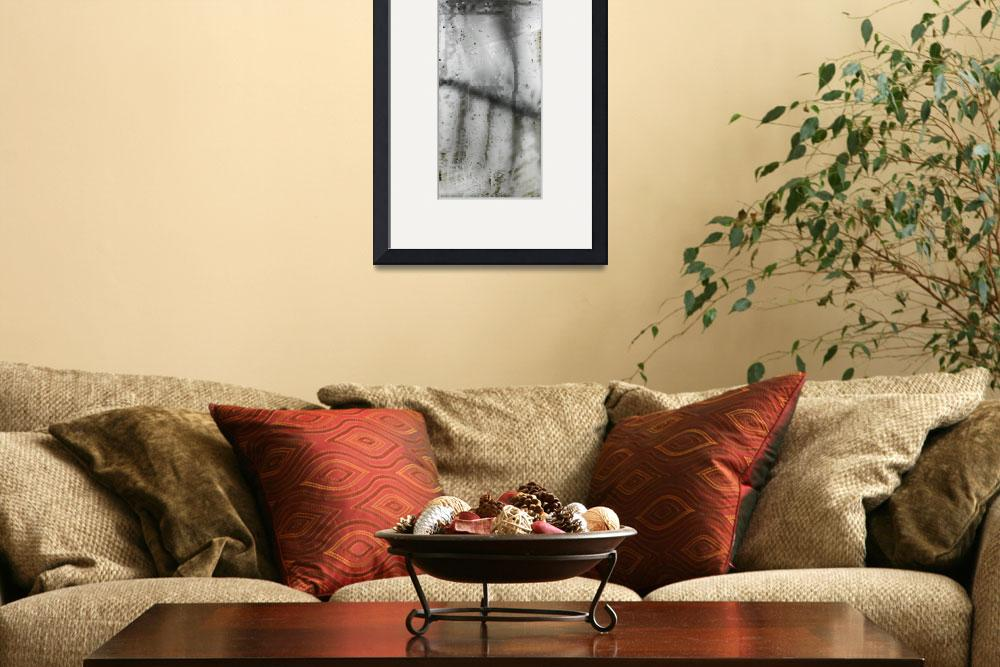 """""""tree and railing abstract drawing ink&quot  (2012) by jnanian"""