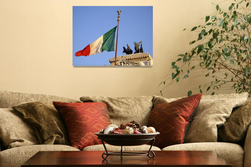 """""""Italian flag over Rome&quot  (2007) by MomentsSun"""