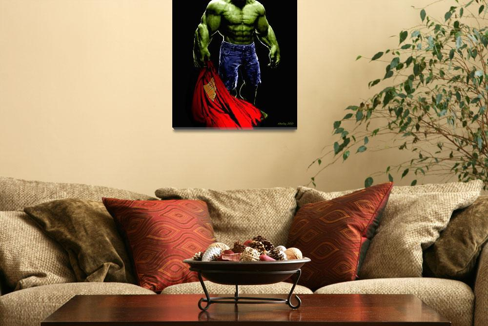 """Hulk vs Superman&quot  (2010) by Khailey"