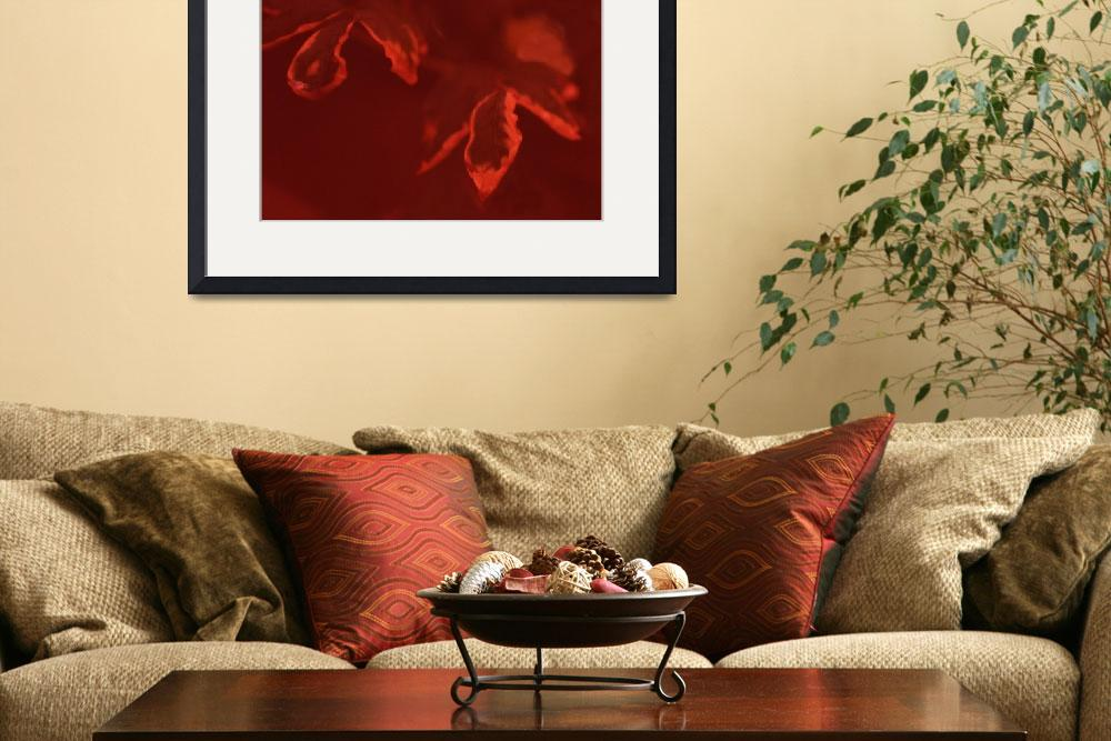 """""""Red Autumn leaves abstract photo""""  (2011) by AppleCoreStudio"""