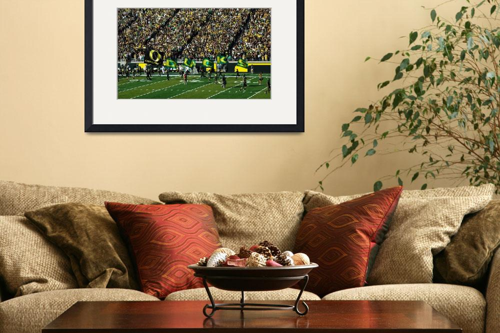 """Oregon Ducks Flags&quot  (2010) by netbrands"