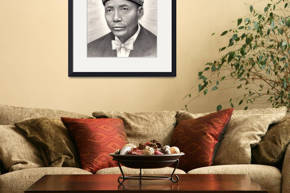 """The Honorable Elijah Muhammad&quot  (2012) by Omoro-Rahim"