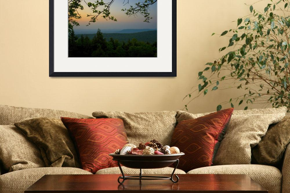 """Mount Nittany at Sunset&quot  (2007) by williamames"