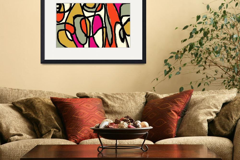 """""""ORL-6861-3 Vibrant Colorful Abstract-0-34-3&quot  by Aneri"""