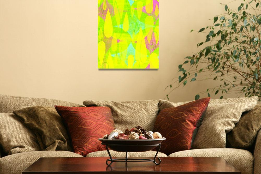 """""""Mid Century Modern Print - Yellow and Pink""""  (2012) by jpprintparlor"""