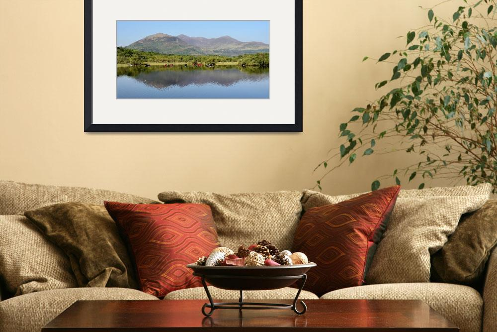 """""""Wooden Boats Killarney Mountains Panorama""""  (2013) by sunnytimes"""