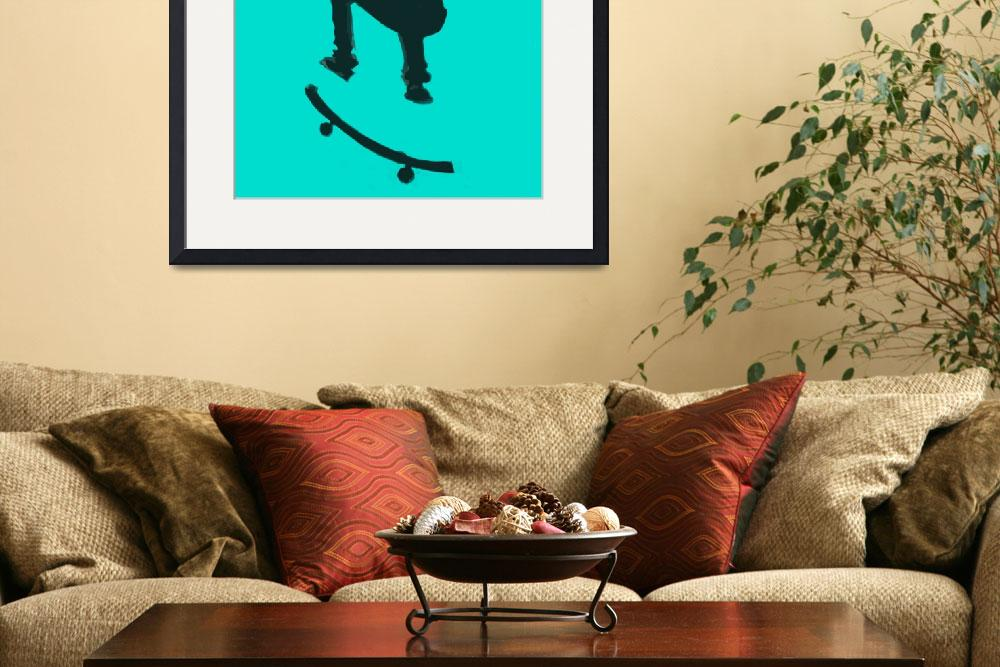 """""""Skateboarder 2 . gray grey charcoal (c)&quot  (2014) by edmarion"""