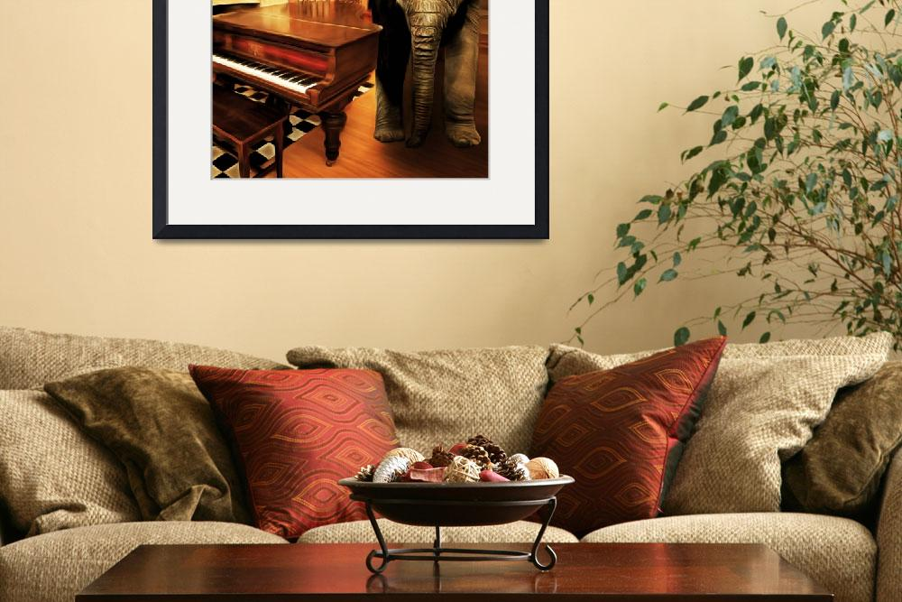 """""""Elephant In The Room 20141225 square&quot  by wingsdomain"""