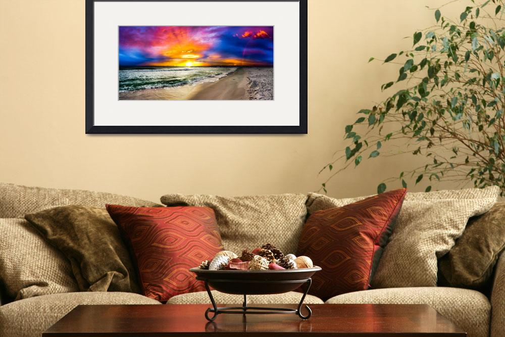 """""""red blue and purple rainbow sunset panorama&quot  (2014) by eszra"""