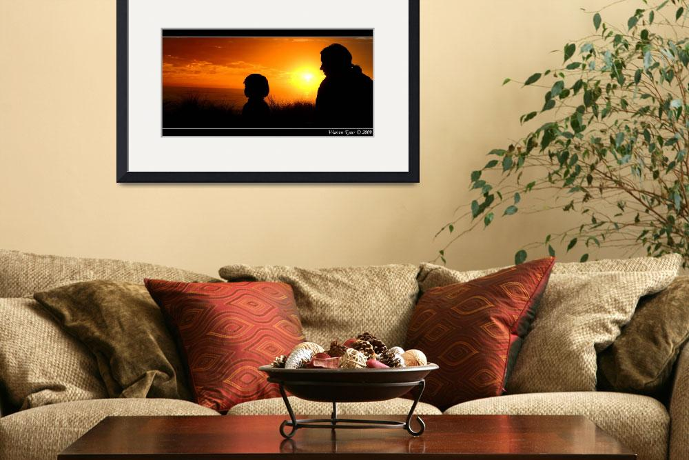 """Mother-&-Son-silhouette.jpg""  (2009) by WarrenT"