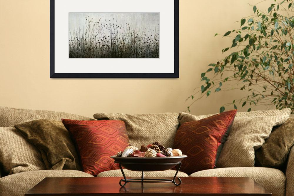 """""""Wildflower silhouettes Ivory & Brown&quot  (2013) by CoraNiele"""
