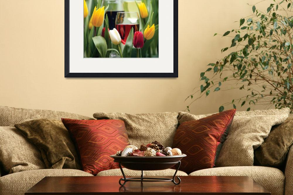 """Tulips and Wine&quot  by winecountrycreations"