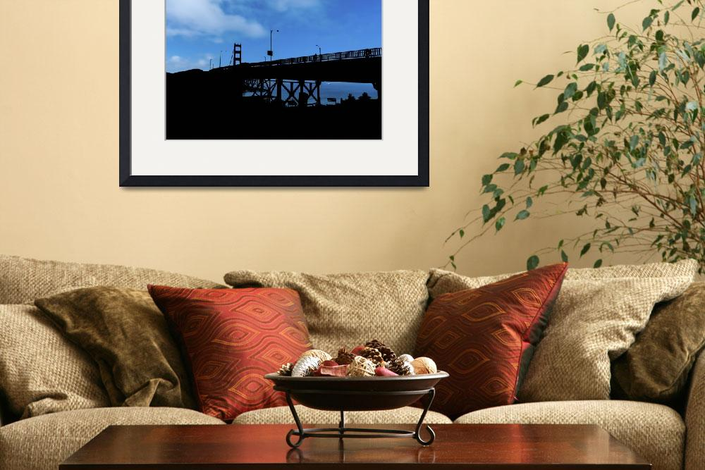 """""""Golden Gate Bridge Silhouette&quot  (2014) by New-Yorkled"""