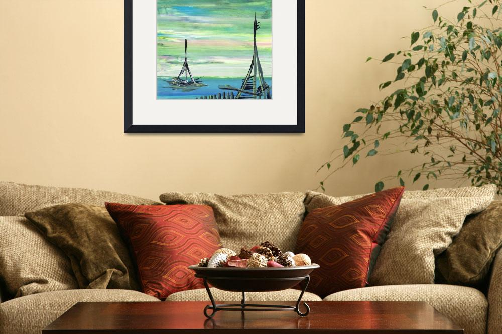 """""""Peaceful Boat Day&quot  (2010) by AndresVillela"""
