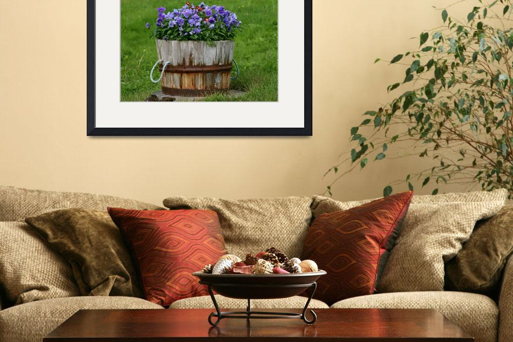 """""""a barrell of flowers&quot  by icephotos"""