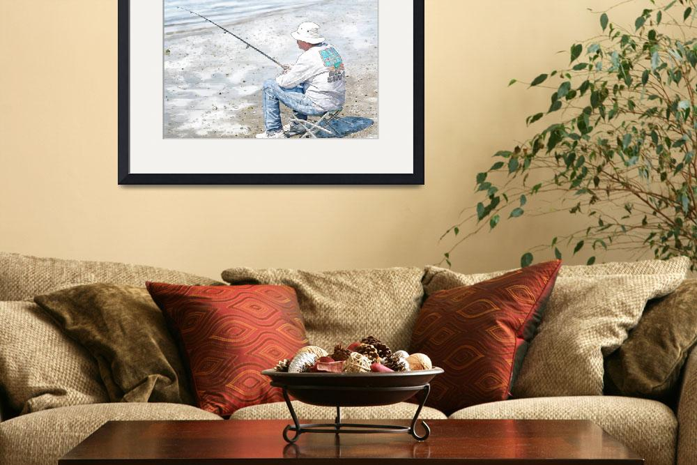 """""""Man Fishing&quot  (2010) by barbee"""