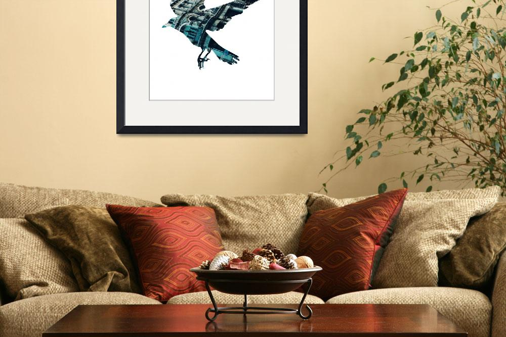 """""""City Crow 16x20 High Res""""  by leeanncs"""