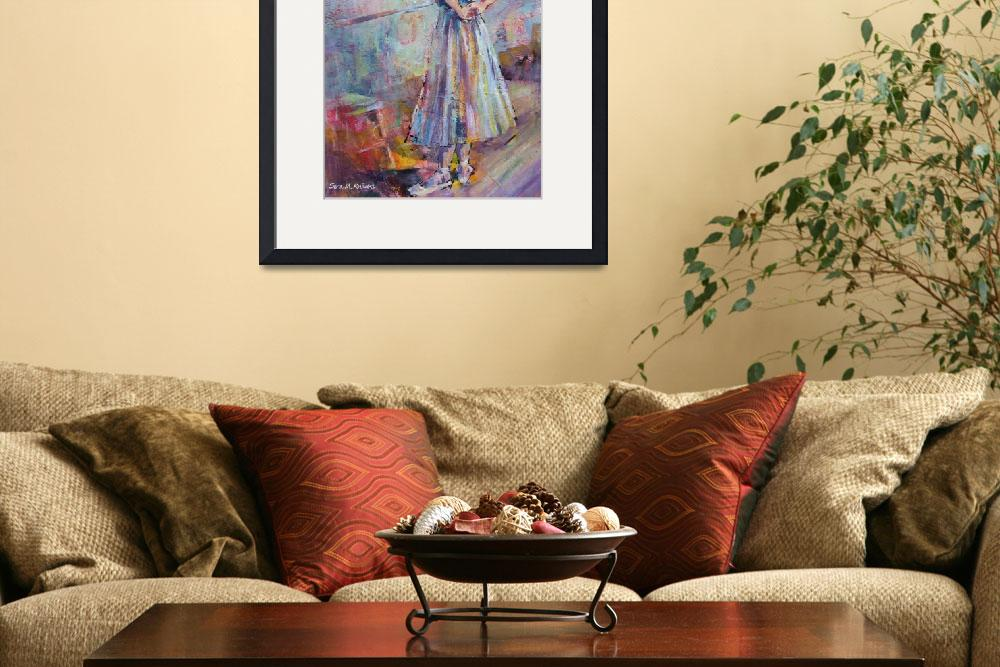 """Ballet Painting - Ballerina In Dance Studio&quot  (2010) by ballet-ballroom-dancing"