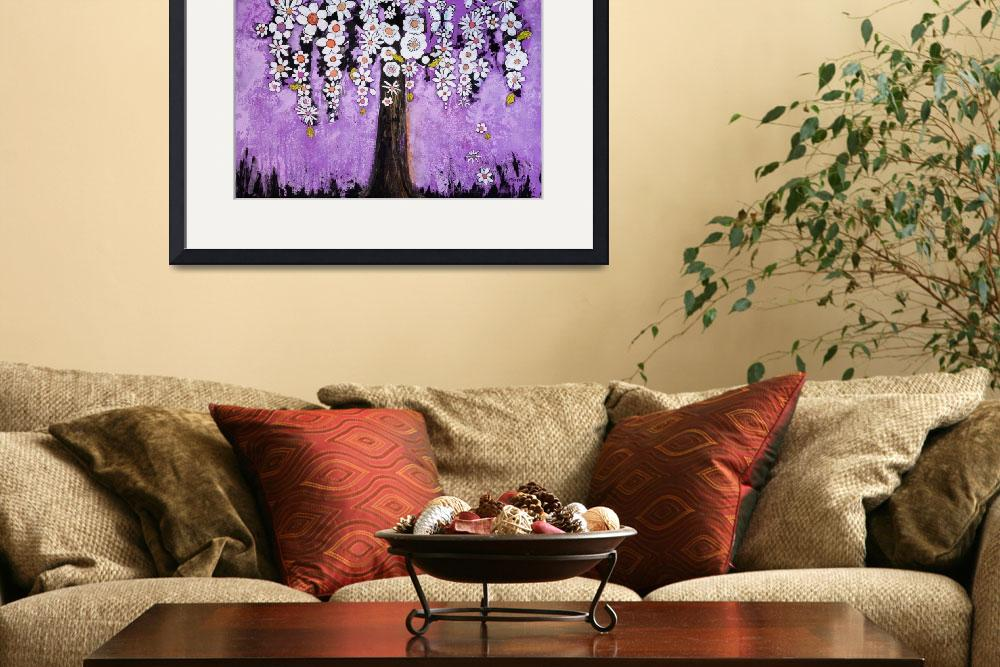 """""""Flowers and Butterfly Tree&quot  (2014) by BlendaStudio"""