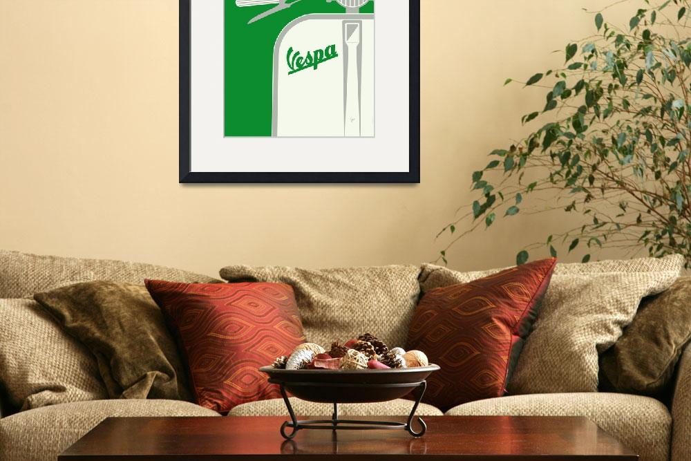 """""""MY VESPA - FROM ITALY WITH LOVE - GREEN&quot  by Chungkong"""