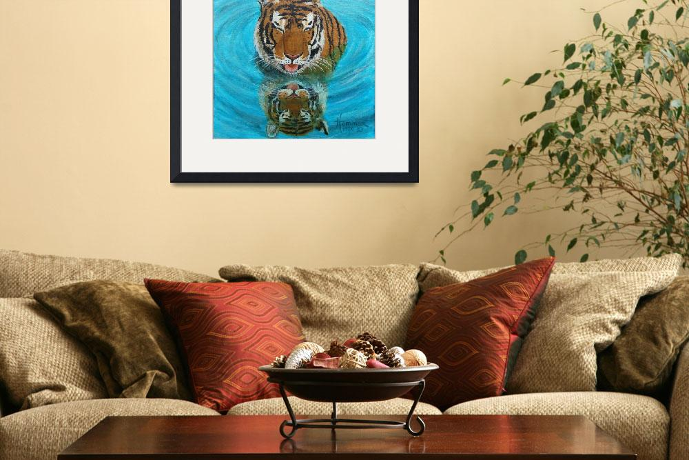 """""""Cool Tiger Painting""""  (1980) by catnip009"""