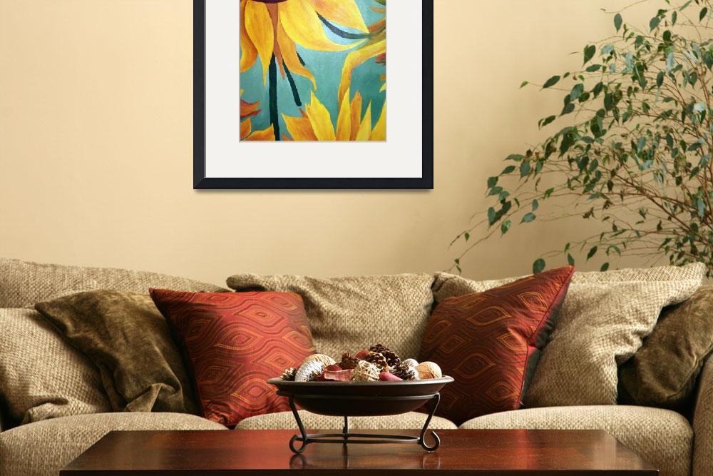 """""""Sunflower on Green&quot  (2009) by arteest"""