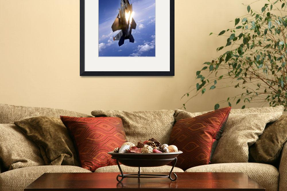 """An F15E Strike Eagle pops flares&quot  by stocktrekimages"