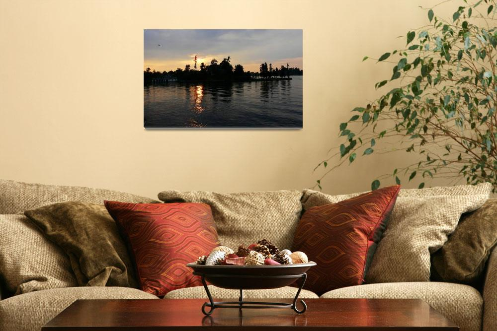 """Thousand Island Sunset""  (2008) by AvisNoelleDesigns"