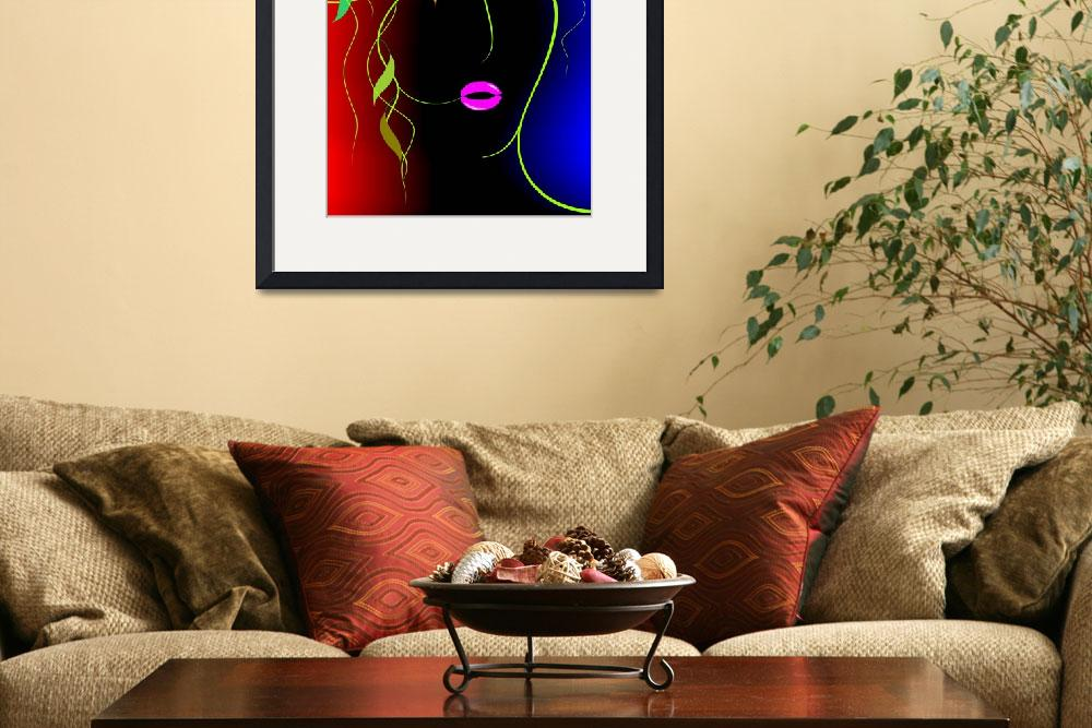 """Digital painting of plant abstract of women&quot  (2009) by digitalpainting"