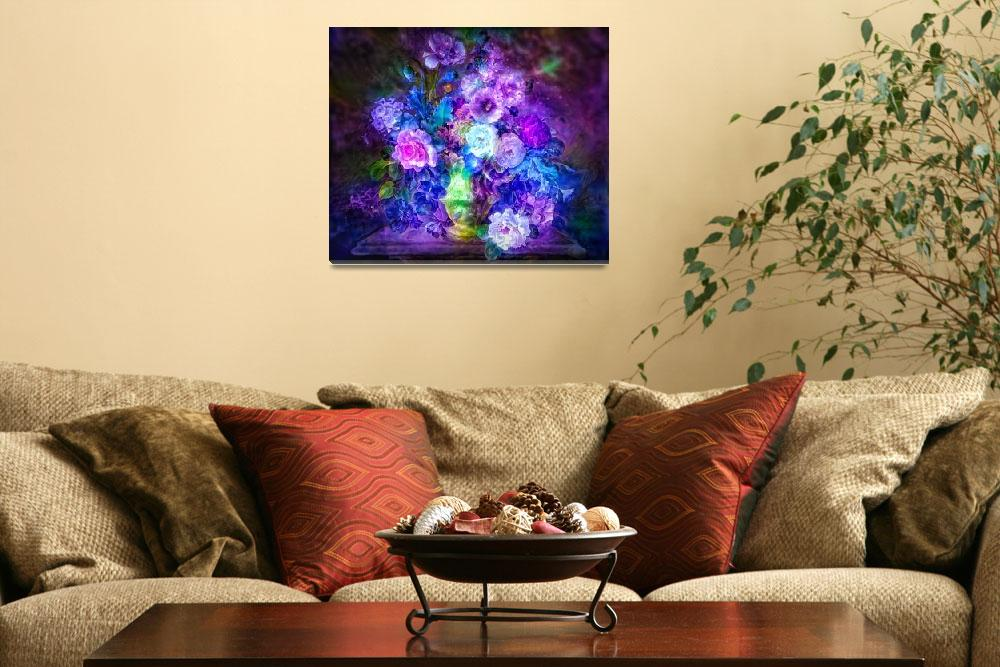 """""""Glowing flowers&quot  by Art_by_Lilia"""