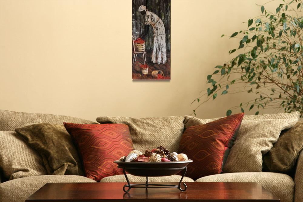 """""""THREE BASKETS OF RED PEPPER AFRICAN AMERICAN FOLK""""  (2010) by kiphayes"""