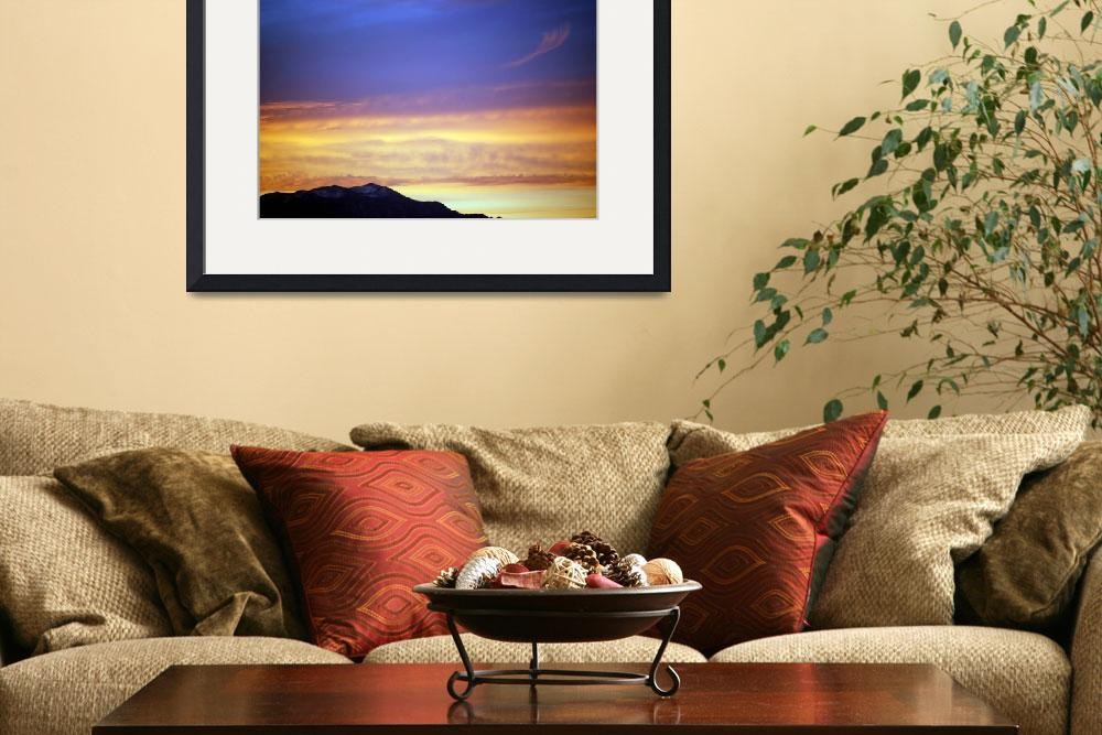 """""""Sunset with mountians""""  (2010) by HeatherMillerPhotography"""