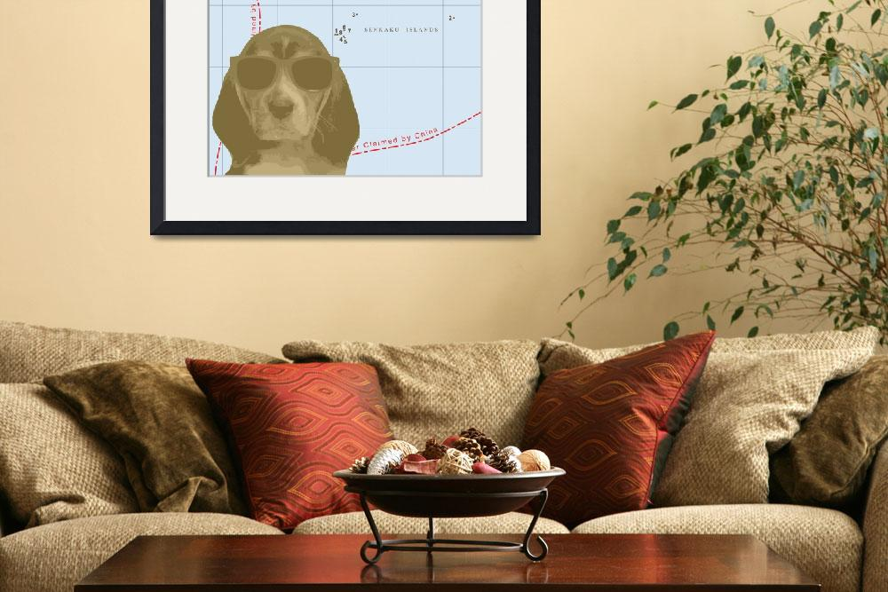 """""""Beagle Map&quot  (2011) by DogHistory"""
