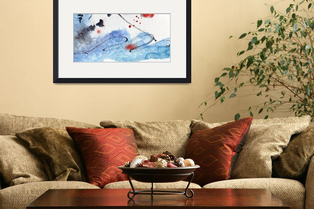"""""""Titlewave Abstract Modern Art Watercolor by Ginett&quot  (2011) by GinetteCallaway"""