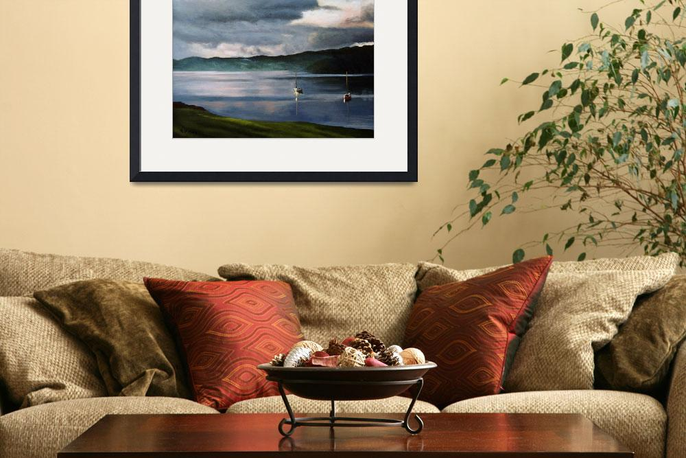 """Lake Windermere at Sunset II&quot  (2007) by smlacyart"