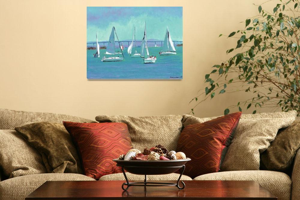 """Cornado Bridge - Sailing San Diego""  by RDRiccoboni"
