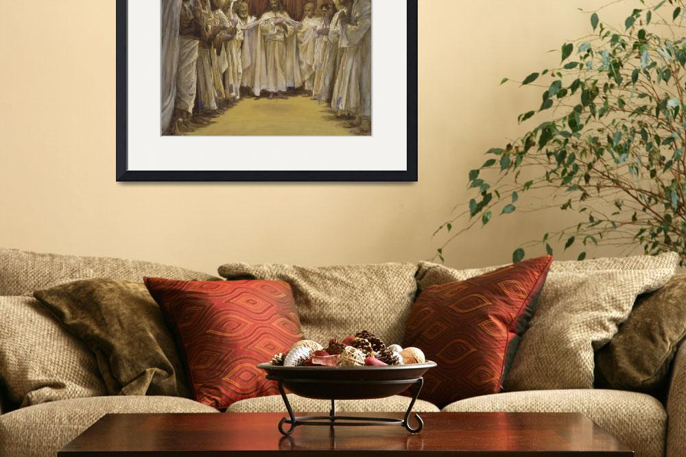 """""""Christ with the twelve Apostles&quot  by fineartmasters"""