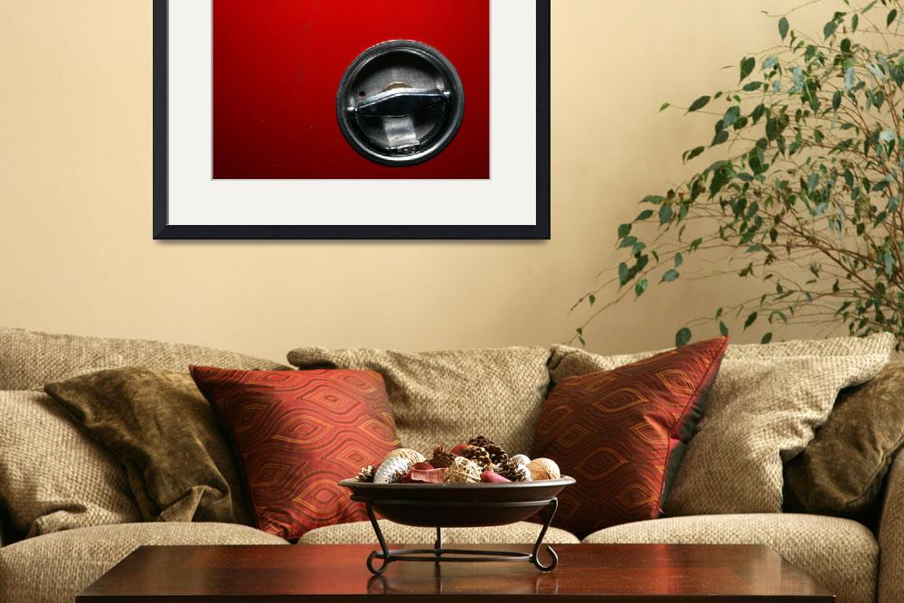 """Chrome Circle in Red Abstract Art to Buy""  (2010) by tobiphoto"