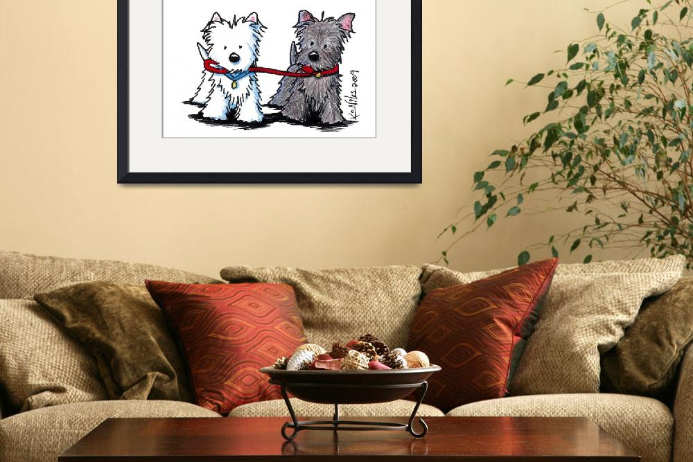 """""""Terrier Walking Buddies&quot  (2009) by KiniArt"""