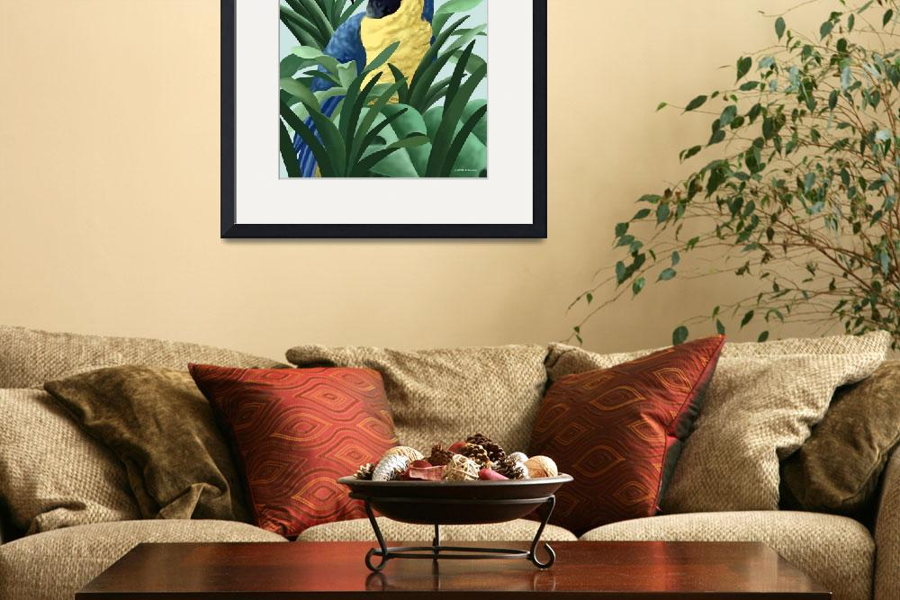 """""""Blue and Gold Macaw Art&quot  by waterart"""