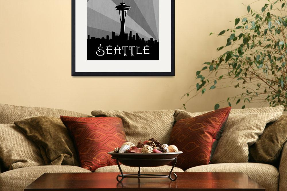 """""""Seattle Skyline&quot  (2011) by Hurricane"""